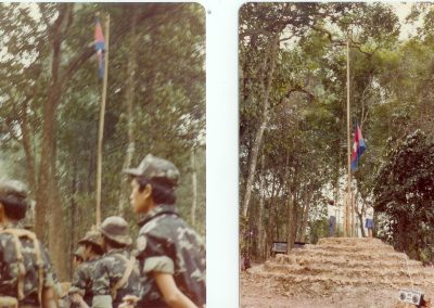 03 Flags in forest