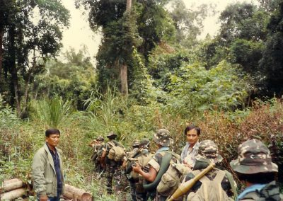 1987 Sending  troops